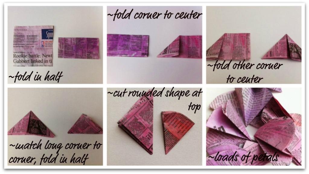 Paper Pom Pom Petals -The Sewing Loft
