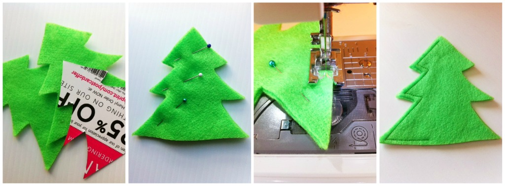 Christmas Decorations 3d Shapes Ks2 : D holiday ornament easy felt christmas tree