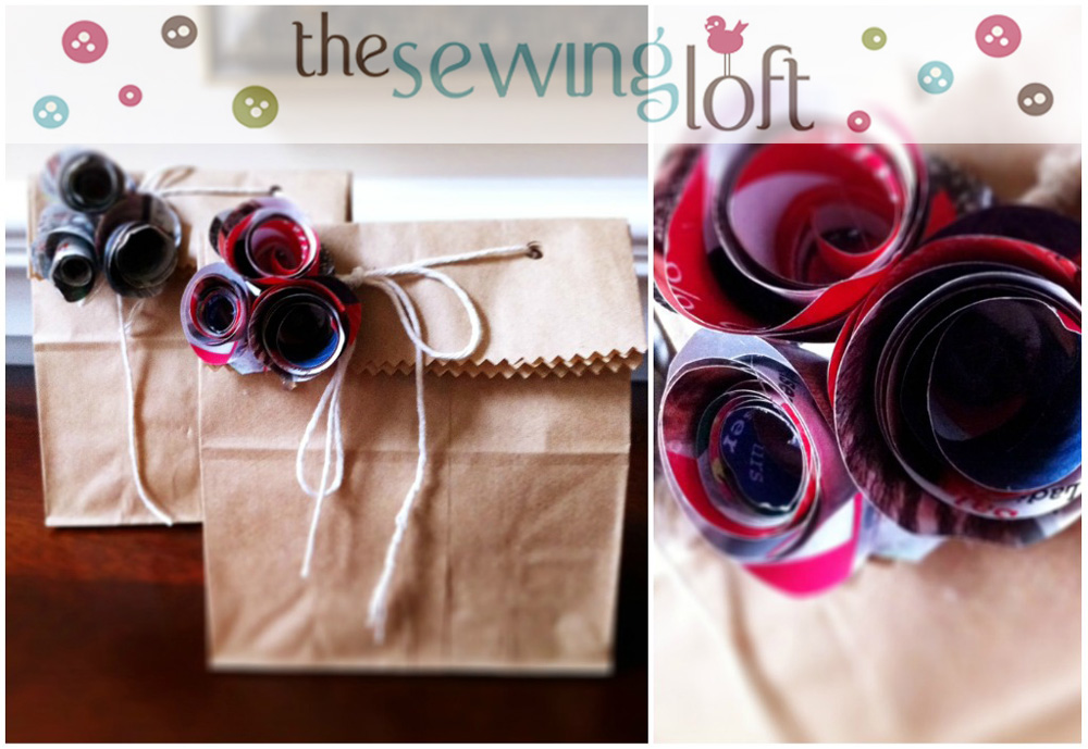 Easy Reclaimed Gift Wrap -The Sewing Loft