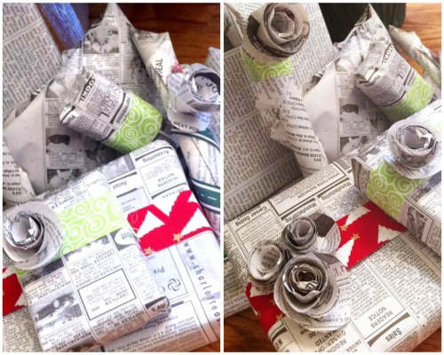 Newspaper Gift Wrapping 2.0