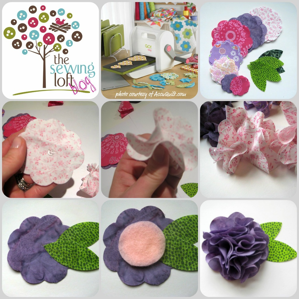 Easy Flower Brooch -TheSewingLoft