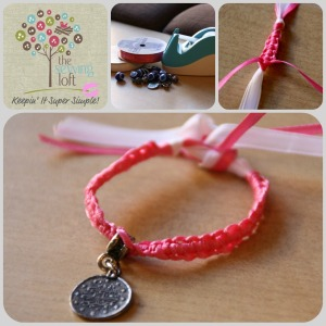 Simple Friendship Bracelet - The Sewing Loft