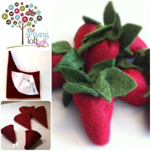 Felt Strawberries How To - The Sewing Loft