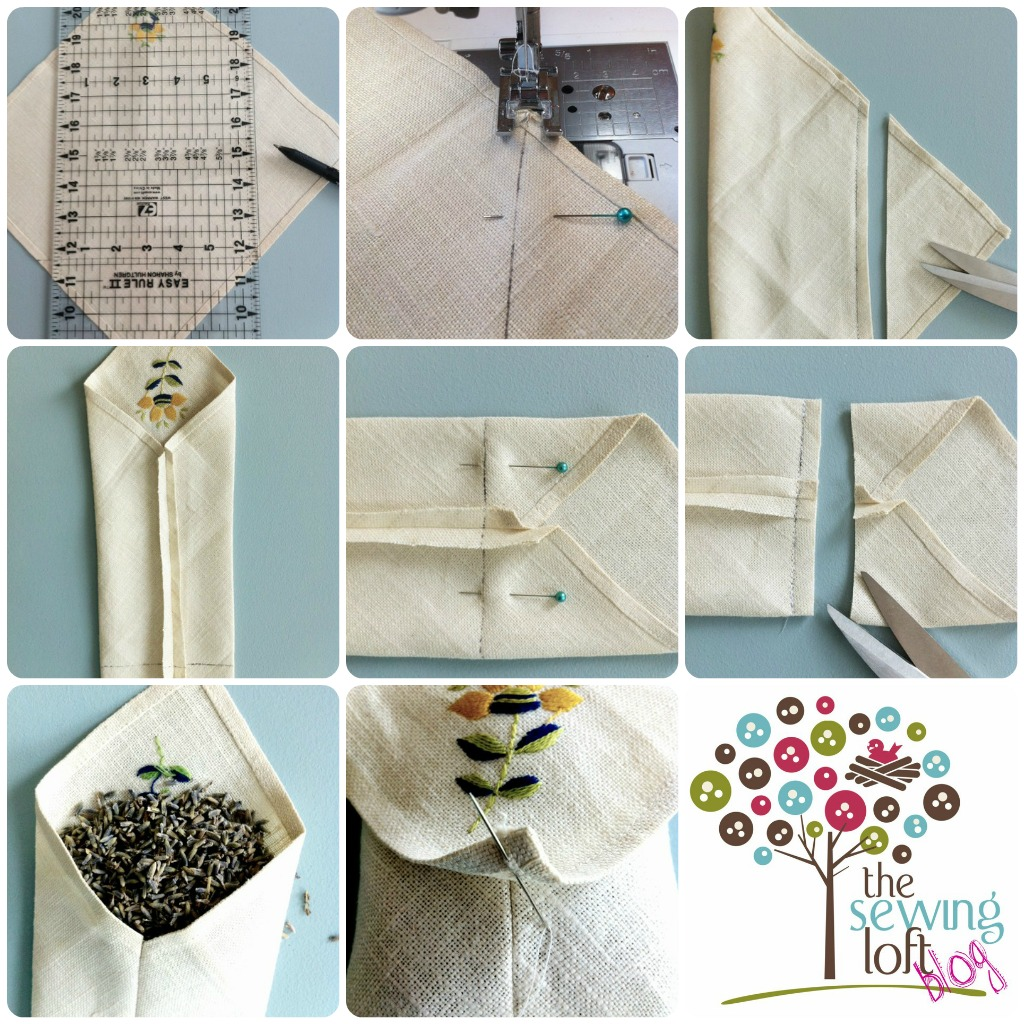Easy drawer sachet @TheSewingLoft