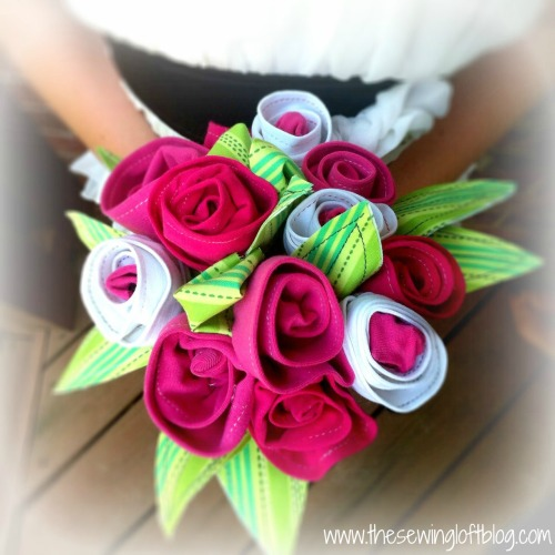 fabric flowers roses