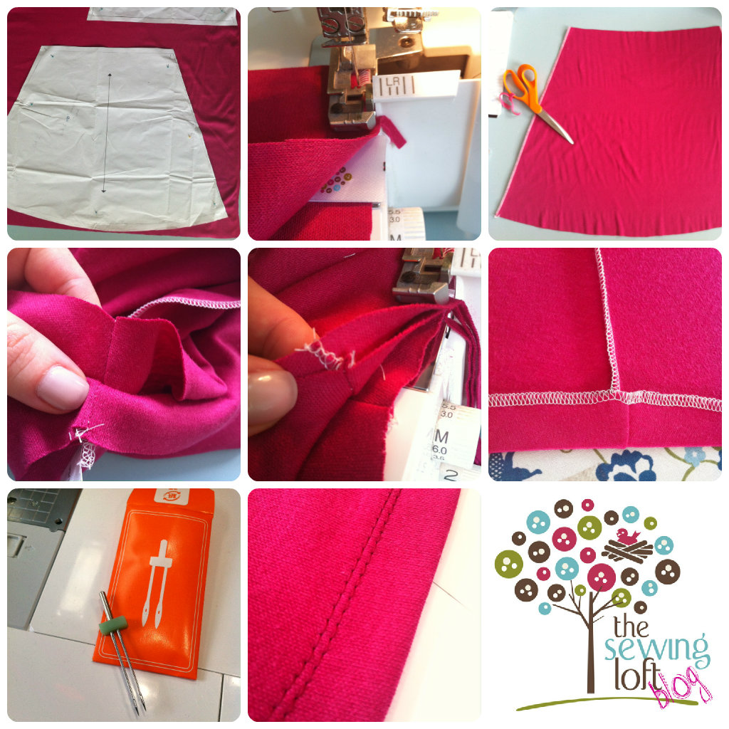 How to Make a Knit Skirt- The Sewing Loft