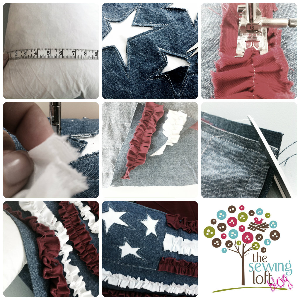 How to make a Ruffle Flag Pillow Cover by The Sewing Loft
