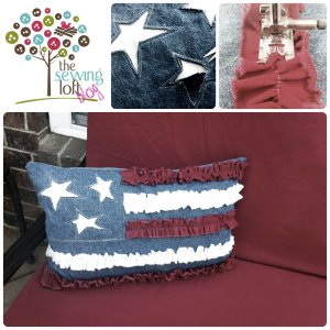 Ruffle Flag Pillow by The Sewing Loft